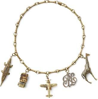 Ralph Lauren Double-Wrap Charm Bracelet