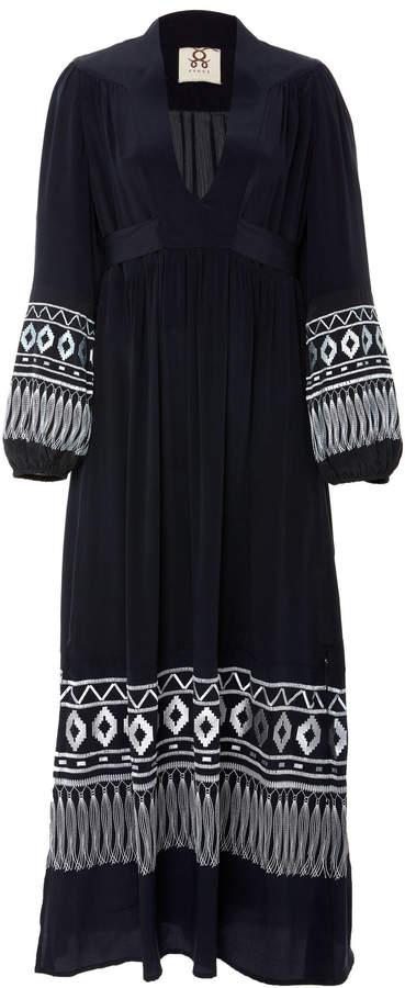 Figue Starlight long sleeve silk maxi dress