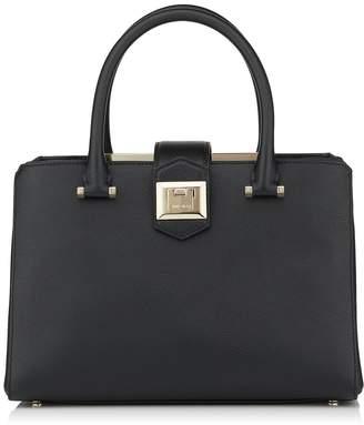 7f790d3731e Jimmy Choo MARIANNE/S Black Grainy Calf Leather Tote Bag
