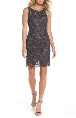 Pisarro Nights Beaded Lace Sheath Dress