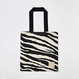 River Island Beige zebra print bag for life