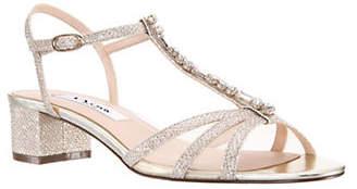 Nina Genova Embellished Ankle-Strap Sandals