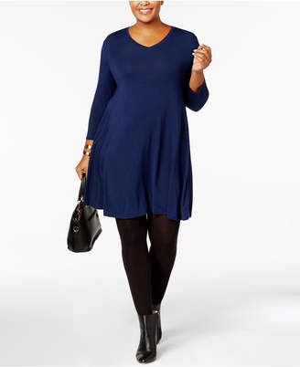 Style&Co. Style & Co Plus Size A-Line Swing Dress, Created for Macy's