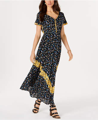 Style&Co. Style & Co Floral-Print Cinched-Waist Dress