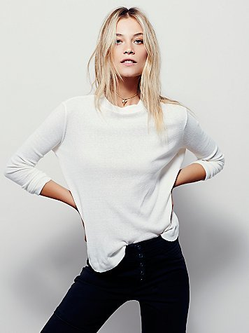 We The Free Wander Mock Neck Tee at Free People