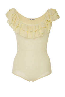 Ulla Johnson Arlee Ruffled Cotton Bodysuit