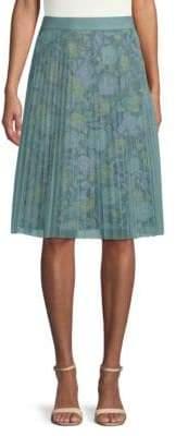 Burberry Pleated A-Line Skirt