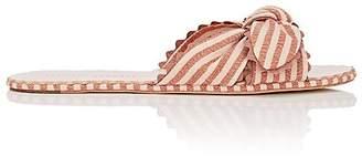 Loeffler Randall Women's Shirley Linen Slide Sandals