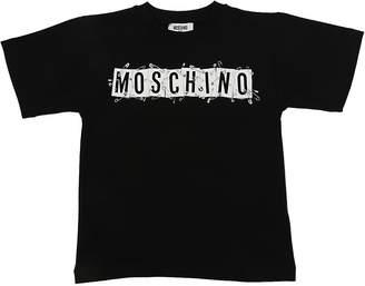 Moschino Safety Pin Cotton Jersey Maxi T-Shirt
