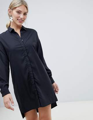 NATIVE YOUTH shirt dress with tie waist detail