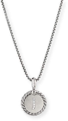 David Yurman Collectible Diamond Initial J Necklace