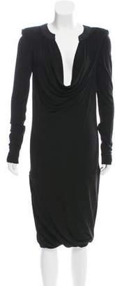 Barbara Bui Long Sleeve Midi Dress