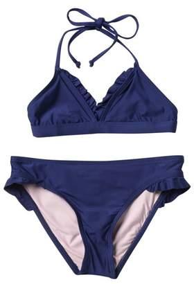 Splendid Girls Swim Color Blocked Triangle Bikini Set (Big Girls)