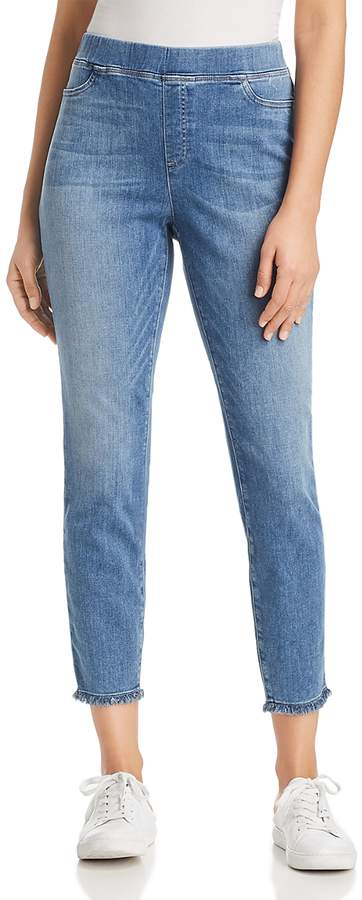 Raw-Edge Cropped Legging Jeans in Ocean - 100% Exclusive