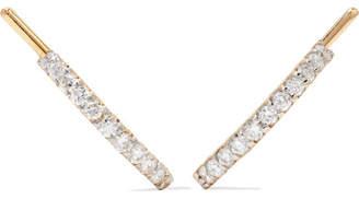 A.N.A Khouri - Norah 18-karat Gold Diamond Earrings