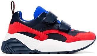 Stella McCartney black, red and blue Eclypse 45 chunky velcro sneakers