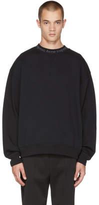 Acne Studios Black Flogho Crewneck Sweatshirt