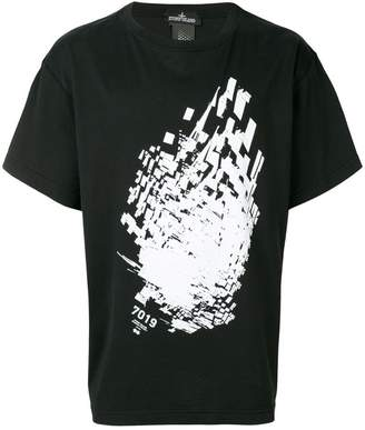 Stone Island Shadow Project contrast print T-shirt