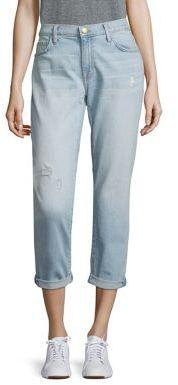 Current/Elliott The Fling Distressed Cuffed Boyfriend Jeans $238 thestylecure.com