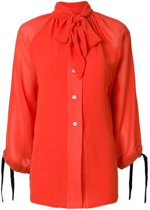 Eudon Choi tie-neck floaty blouse