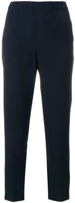 Closed elasticated waistband tailored trousers