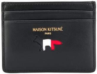 MAISON KITSUNÉ tri-stripe logo print cardholder