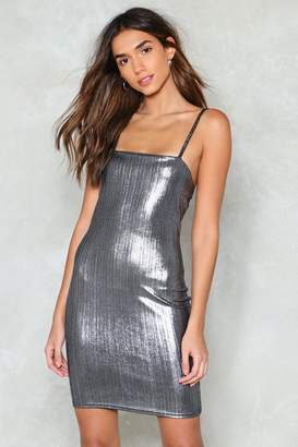 Nasty Gal Silver Lining Mini Dress