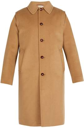 Gucci Embroidered felt overcoat