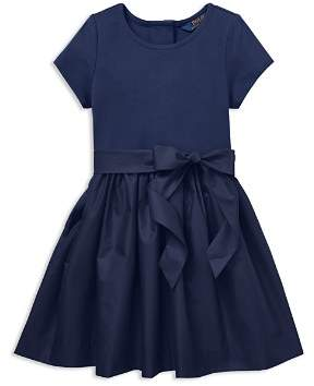 Ralph Lauren Girls' Taffeta Shirt Dress with Sash - Little Kid