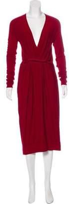 Donna Karan Gathered Midi Dress
