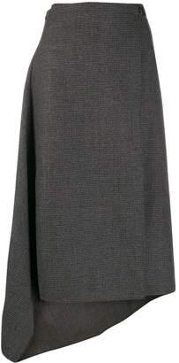 Ports 1961 houndstooth asymmetric skirt