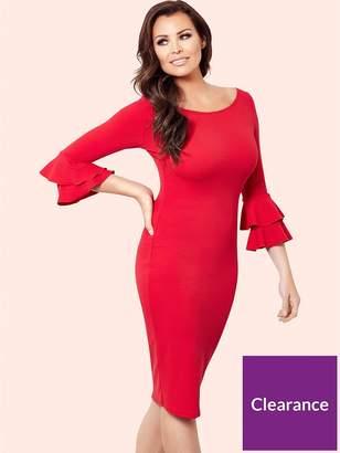 Jessica Wright Izzie Frill Sleeve Bodycon Dress