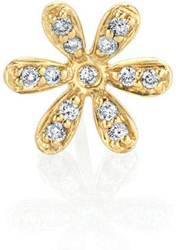Sydney Evan 14K Gold Daisy Stud Earring with Diamonds