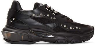 Valentino Black Garavani Crystal Bounce Sneakers