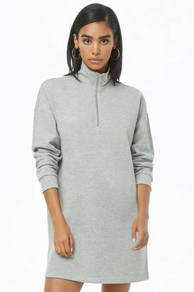 Forever 21 Funnel Neck Sweatshirt Dress