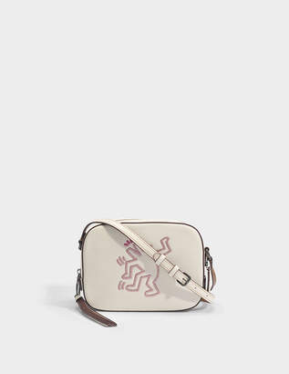 Coach Camera Bag in Chalk Leather