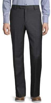 Saks Fifth Avenue Sharkskin Wool Dress Pants