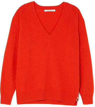 Givenchy Wool And Cashmere-blend Sweater - Red