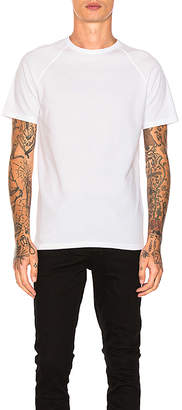 Reigning Champ Raglan Tee in White $60 thestylecure.com