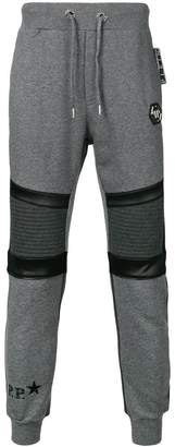Philipp Plein panelled tapered track pants