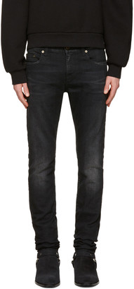 Saint Laurent Black Low Waisted Skinny Jeans $690 thestylecure.com