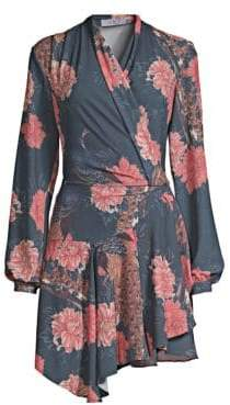 DAY Birger et Mikkelsen PatBO Peacock Asymmetrical Wrap Dress