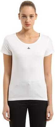 Vivienne Westwood Logo Detail Cotton Jersey T-Shirt