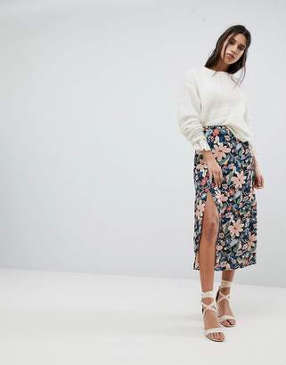 Lily & Lionel Midi Skirt With Side Split