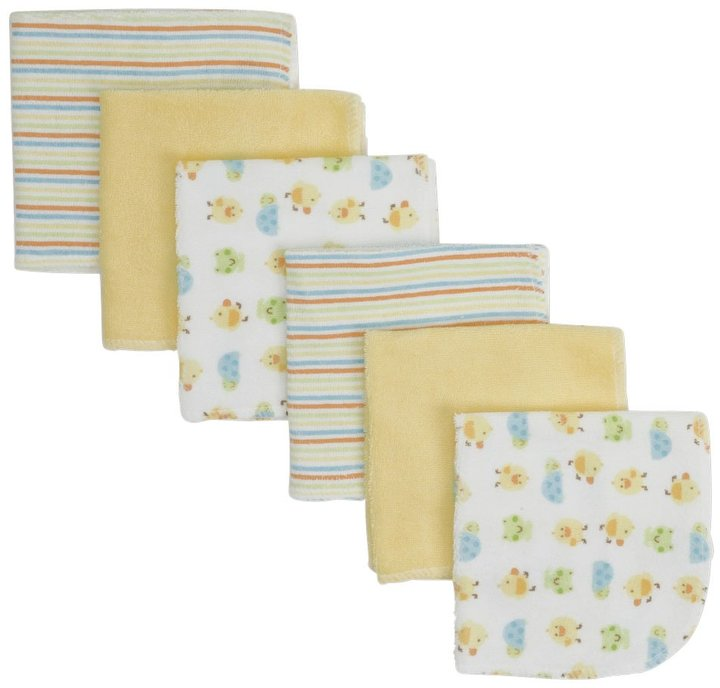 Gerber 6PK Washcloth - Multicolor-One Size-Neutral