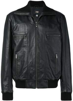 Class Roberto Cavalli leather bomber jacket