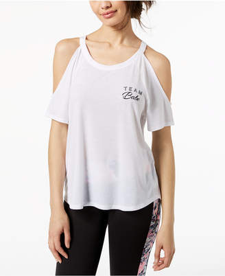 Material Girl Active Juniors' Cold-Shoulder T-Shirt, Created for Macy's