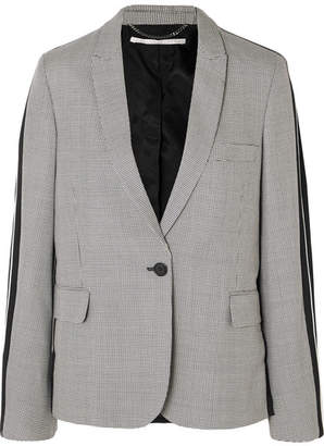 Stella McCartney Houndstooth Wool-tweed And Silk-twill Blazer - Gray