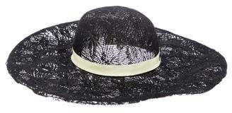 Maison Michel Lace Wide-Brim Hat