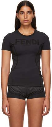 Fendi Black Neoprene T-Shirt